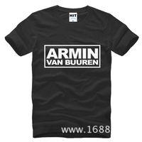 Wholesale Armin Van Buuren Shirt - MC DJ Armin Van Buuren hip hop Men's T-Shirt For Men 2017 New Short Sleeve Cotton Casual Top Tee Camisetas Masculina