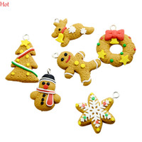 Wholesale Polymer Clay Sets - 6Pcs set SEASONS Polymer Clay Pendants Christmas Snowflake Ornament Charm Earth Yellow Tree Phone Hanging Accessories Key Drop Charms 19350
