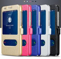 Wholesale G7 Window - Window View Magnetic PU Leather Flip Stand Cover Case Shell Housing Skin For Huawei Honor 5A 8 P9lite D199 G7 Plus 4x 6plus