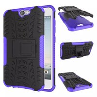 Wholesale Wholesale Xperia Play - FOR SONY Xperia E5 HTC A9 DESIRE 530 MOTO G4 Play G5S G5S PLUS Dazzle Hybrid KickStand Impact Rugged Heavy Duty TPU+PC case Cover 10PCS