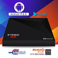 MINI PLUS TV Box R-TV 4K Android 7.1 RK3328 Quad Core A5X Plus TV Box 1GB 8GB USB 3.0 Smart Internet Media Boxe Melhor MXQ TX2 S10