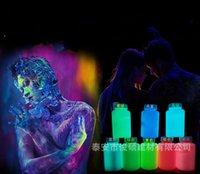 Wholesale body painting party resale online - 2 js Watery Luminous Paint DIY Body Painting Bright Pigment Non Toxic Glow In The Dark Acrylic Fluorescent For Graffiti Party Makeup Decor