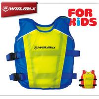 Wholesale Kids Jackets Strap - WINMAX New Summer Swimming Life Vest Swimwear Buoyancy Sport Jacket Swimwear Strap Child Cany Color Swimming Jacket For Kids