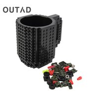 Wholesale Toy Building Blocks China - Wholesale- OUTAD DIY Build-on brick mug Style puzzle cup my building blocks water bottle frozen&hot drink mug adult kids toys