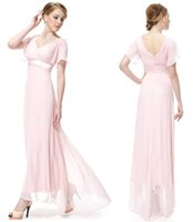 Wholesale Maxi Dresses Tall - High Quality The New Summer 2017 Ms V -Neck Tall Waist And Various Occasions Apply To Evening Dress Yeu Free Shipping
