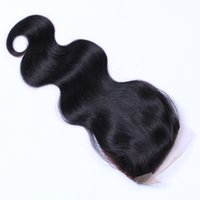 La qualité peut être teint Ombre Couleur Cheveux Body Wave Virgin Virgin Remy Hair Extensions Couleur naturelle Brazilian Indian Peruvian 4 * 4 Closure