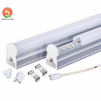 Wholesale T5 Led Base - Free Shipping (tube+base) 1ft 2ft 3ft 4FT integrated tube T5 lights lamp Led fluorescent 1200mm 1.2M 6 10 15 22W SMD2835 AC85-265V