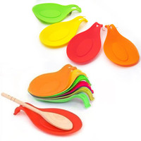 Wholesale Spoons Set Holder - Silicone Spoon Rest Kitchen Heat Resistant Silicone Spoon Rest Utensil Spatula Holder Kitchen Tool Jumbo Spoon Rest Set