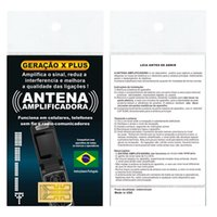Wholesale Wholesale Cell Phone Booster - Generation X Plus X-Plus New Shiny Cell phones Signal antenna amplifier booster sticker in Portuguese Packing by free shipping 100pcs lot