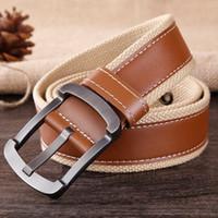 Top Cinturones tácticos Cinturón de lona militar para hombre Deportes al  aire libre Ceinture Jeans Cinturón de cuero Cintos de alta calidad b7c5e15bbdd5