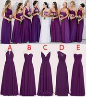 Wholesale Perfect Pink Dress - Perfect Chiffon Purple Bridesmaid Dresses 2017 Floor Length A Line Long Wedding Bridesmaid Dresses Custom Made Sleeveless