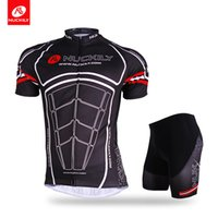 Wholesale Nuckily Cycling - Nuckily Wholesale with high qulity short suit Mens mountain bike KingKong design cycling ss jersey and short set AJ207BK277
