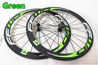 Wholesale 12k Carbon Road Wheel - 3K-UD-12K Green model With Six kinds of hubs rim width 20.5mm FFWD F4R 50mm road bike carbon wheels free shipping