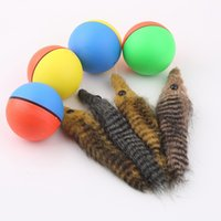 Wholesale Kids Jump Ball - Popular New Dog Cat Weasel Motorized Funny Rolling Ball Pet Kids Chaser Jumping Fun Moving Toy Drop Shipping