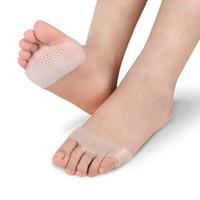 Wholesale High Heels Insole Gel - Soft Silicone Gel Toe Pads High heel shock absorption anti Slip-resistant metatarsal foot Pad Forefoot Pad Feet Pain foot Health Care pad