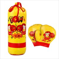 Wholesale Punching Bag Sets - Kids mini boxing toys 3pcs set punching bag+boxing glove cute Parent-Child Interaction fitness equipment early education boxing sports EMS