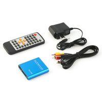 Wholesale Hdd Media Player Card Reader - Wholesale- 2016 New Mini 1080P Easy USB Flash Memory Card AV Port TV Multi HD Media Player Blue