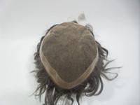 Wholesale European Full Swiss Lace Wigs - Swiss Net Wig Hair Piece European Hair Full Lace Wigs Color Black Straight Hair 27cm*22cm Swiss Net PU WIGS Can Design Custom Good Quality