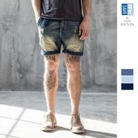 Wholesale Cool Trousers For Men - New Arrival Mens Fashion Casual Cool Gym jeans Shorts For Men Cotton Blue Vintage Denim Short Pants Homme Trousers sale