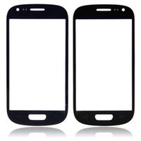 Wholesale Galaxy S3 Front Lens Replacement - 10pcs lot NEW White Black Blue Front Glass For Samsung Galaxy S3 i9300 Screen Touch Panel Outer Glass Lens Replacement Part free shipping