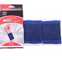 Wholesale knees protector online - Athletic Wrist Sweatbands Support race Wristbands knees Sports Wristband Wrist Wrap Bandage Support Band sports wrist protector KKA1989