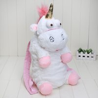 Wholesale Despicable Fluffy Unicorn Plush - Despicable Me Fluffy Unicorn Plush Backpack Large 50cm New Back Pack Doll Toys Bag
