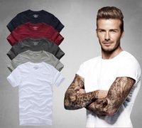 Wholesale Wholesale Mens Casual Shirt - Fashion Brand t Shirts For Men 100% Cotton Solid Mens t Shirts Casual Slim t Shirt