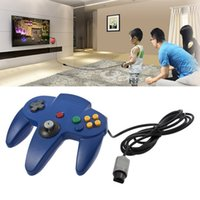 Wholesale Nintendo N64 - Brand new and high quality Game Controller Joystick for Nintendo 64 N64 System Deep Blue Pad Mario Kart