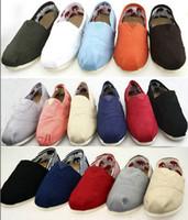 ingrosso appartamenti di marca di moda-EUR35-45 marca all'ingrosso moda donna solido paillettes appartamenti scarpe sneakers donna uomo scarpe di tela mocassini scarpe casual espadrillas drop shipp