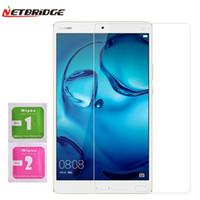 pc için şeffaf ekran toptan satış-Toptan Satış - Huawei Mediapad m3 8.4 inç Tablet PC Temperli Cam Ekran Koruyucu Film 2.5D Kenar 9H Şeffaf Ultra-ince Tablet Cam