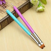 Wholesale Nail Paint Dot - Wholesale- 2016 Hot Selling NEW 2-Ways Nail Art Pen Painting Dotting Acrylic UV Gel Polish Brush Liners Tool 5W4S 7GXO AV3I