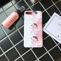 Para Iphone 7 Phone Case Cute Cartoon Chi-Bi Maruko Ambiental PC Frosted Touch Hard Casos de telefone móvel para Iphone 6s 7 6 Plus