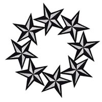 Wholesale Wholesale Bags Embroidered - Diy stars patches for clothing iron embroidered patch applique iron on patches sewing accessories badge stickers on clothes bag DZ-036