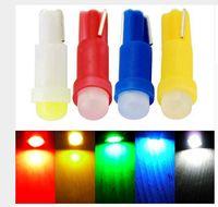 Wholesale Led T5 1w - 100PCS T5 1SMD COB 1W LED Dashboard Lights Ceramic Gauge LED Gauge Side Wedge Light bulb