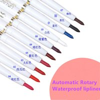 Wholesale Pencil Products - Wholesale-automatic rotary lip liner long-lasting natural brand makeup sexy products lady waterproof beauty 2015 lip pencil