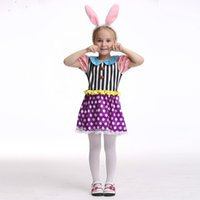 Wholesale Bunny Girl Costume - Easter bunny role playing children's costumes