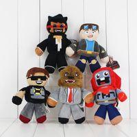 Wholesale Heros Games - Wholesale-1PCS Newest Game Tube Heros Plush Toy DanTDM Captain Sparklez Sky Exploding Jeromeast Stuffed Doll Toys Gifts For Kids