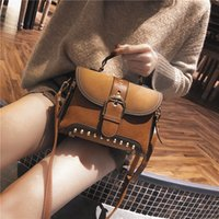 Vintage Hot Sale Rivet Designer Handbags Waterproof Shoulder Bags Moda Mulher Handbag Mini Bags Cross Body For Young Lady