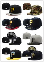 Wholesale Embroidered Tops For Women - 2017 TOP SALE newst Embroidered Pittsburgh Pirates Baseball cap, Fitted cap for men women Hat with sun protection wicks away sweat cap