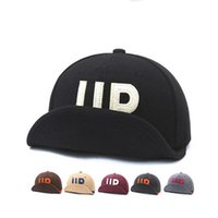 Wholesale Woolen Head Cap - Free shipping Autumn and winter new woolen mat baseball cap men and women personality eaves eaves erected UP letters big head hat GMB003