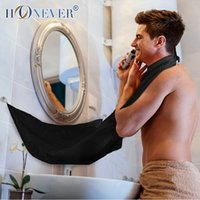 Wholesale Travel Hair Trimmer - Wholesale-2 Colors Man Bathroom Beard Care Apron Trimmer Hair Shave Beard Stylist Floral Bib Cloth Portable Bathroom Apron Travel Kits