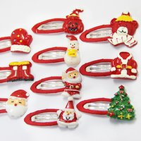 Wholesale Cheap Christmas Tree Gifts - Hot Sale Christmas Girl Clip Santa Deer Tree Headband New Fashion Hair Accessories Cute Cheap Xmas Gifts Children Girls Presents A7394
