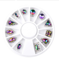 3D Nails Crystal Rhinestone Nail Art Flatbacks Mixtos Cristal y Aleación Piedras del Strass Gemas Nail Art Tips DIY Nail Art Decoration