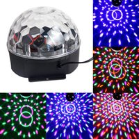 Wholesale Disco Bra - Wholesale-New DJ Club Disco Light KTV Party Bra RGB Crystal LED Ball Projector Stage Effect Lighting US Plug
