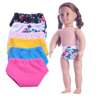 Wholesale Wholesale American Doll Clothes - Wholesale Knickers Clothing Accessories For 18 Inch American Girl Dolls 6 Colors Underpants For American Girl Dolls 2017 New Cloths Accessor