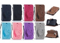 Wholesale Case Duos - Qiaogle® case - for Samsung Galaxy J1 (2016) Duos   SM-J120F PU leather flip wallet Protective shell - BF09   phone case - feathers holster