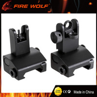Wholesale Back Iron Sight - FIRE WOLF Tactical Iron Sights Front Sight Precision Flip Up Front and Rear Back up Iron Sight For Hunting