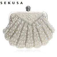 Em forma de casco Handmade Luxurious Wedding Handbags Beaded Rhinestones Purse Evening Bags Diamonds Clutches Bag