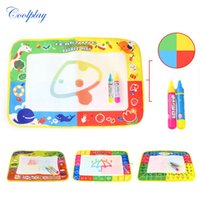 Coolplay 45X29cm Baby Kids Добавить воду с 2шт Magic Pen Doodle Painting Picture Drawing Play Rug Russian Board Gift Christmas
