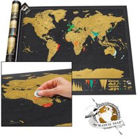 Wholesale Log Off - Deluxe Travel Edition Personalised World Scratch Off Map Poster Journal Log Gift Deluxe Scratch Map   Deluxe Scratch World Map Travel